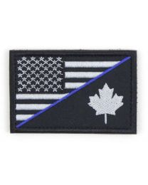 Canada/USA Combo Velcro Morale Patch with Thin Blue Line