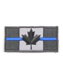 Canada Flag Velcro Morale Patch with Thin Blue Line