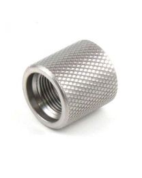 Knurled Muzzle Thread Protector (Stainless)