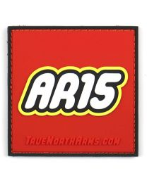 """AR-15"" Building Toy PVC Patch w/Velcro"